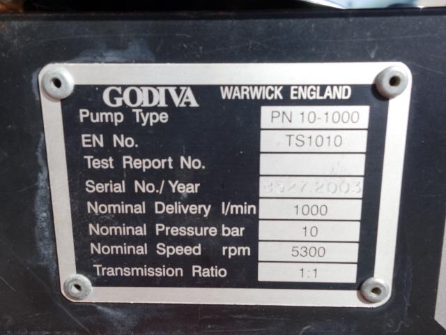 Just arrived Godiva fire pump trailer