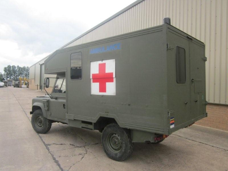 Ambulances Land Rover 130 -Not many left now.