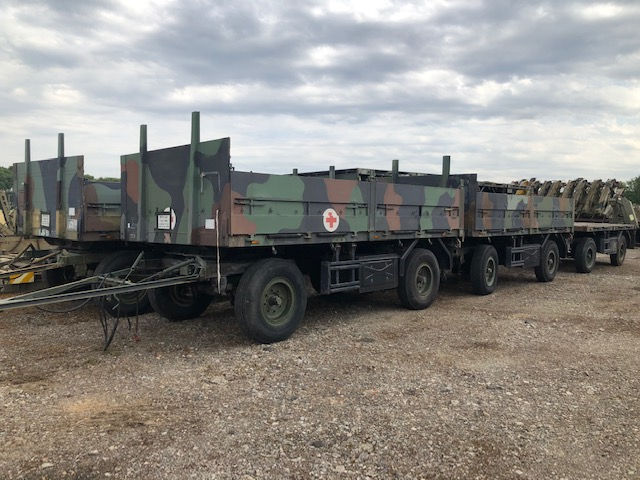 10 x Schmitz 2 axle draw bar cargo trailers