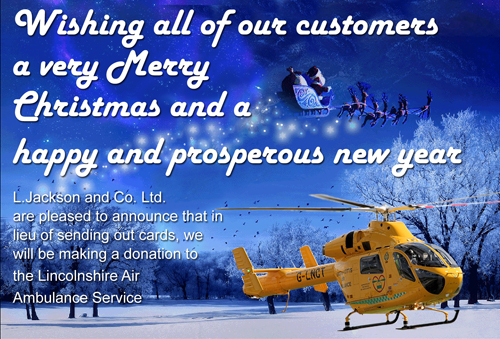 Donation to the Lincolnshire Air Ambulance Service