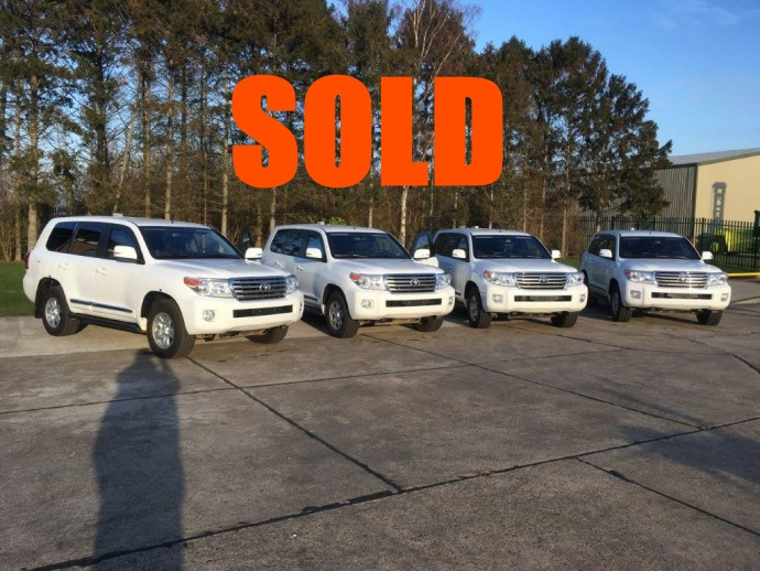 SOLD 4x Unused Armoured Toyota Land Cruiser 200 Series Trojan