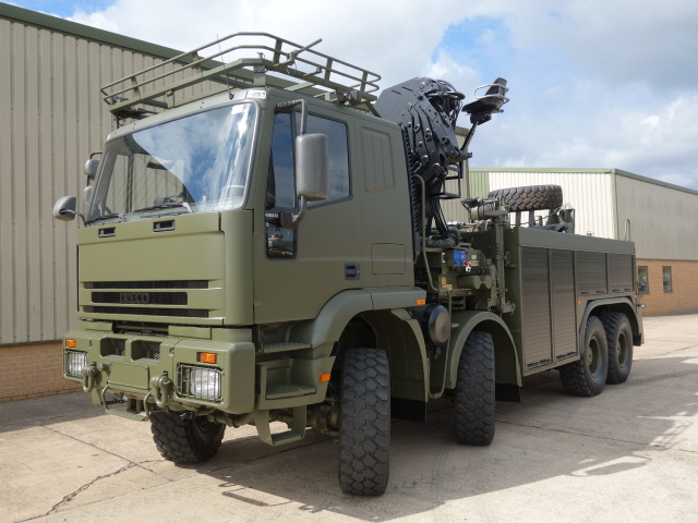 Just arrived 2x Iveco 410E42 8x8 recovery trucks | MOD direct sales