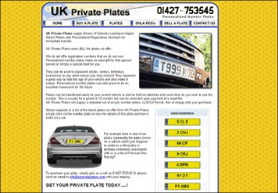 UK Personalised Plates
