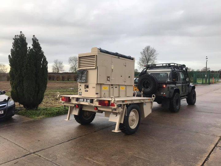 Penman GT3500 trailer with Harrington 20kva diesel generator