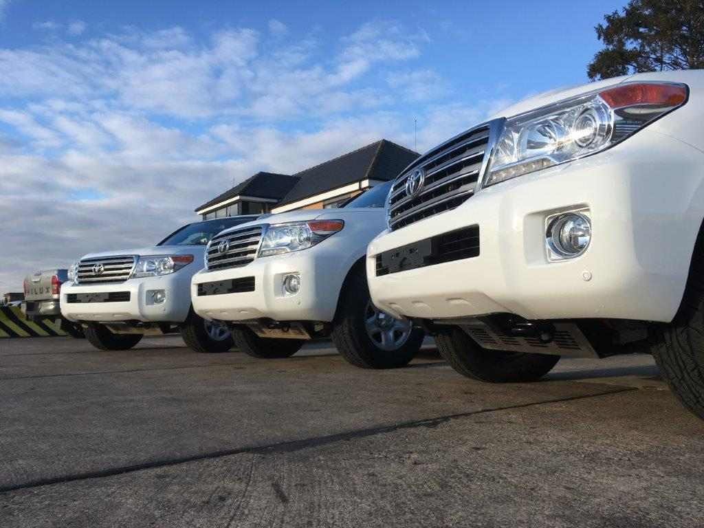 4x Unused Armoured Toyota Land Cruiser 200 Series Trojan