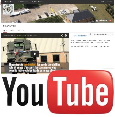 Watch our latest video on YouTube of the Oshkosh M1070 military Tractor Units 8x8