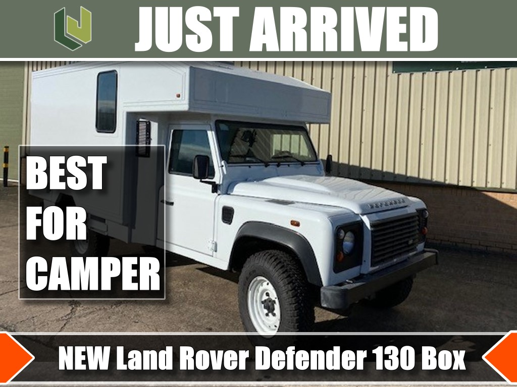 Just arrived new Land Rover 130 Box LHD and RHD