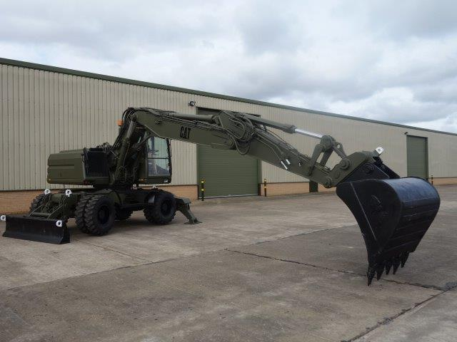 Just arrived Ex Military Caterpillar 318M Wheeled Excavator