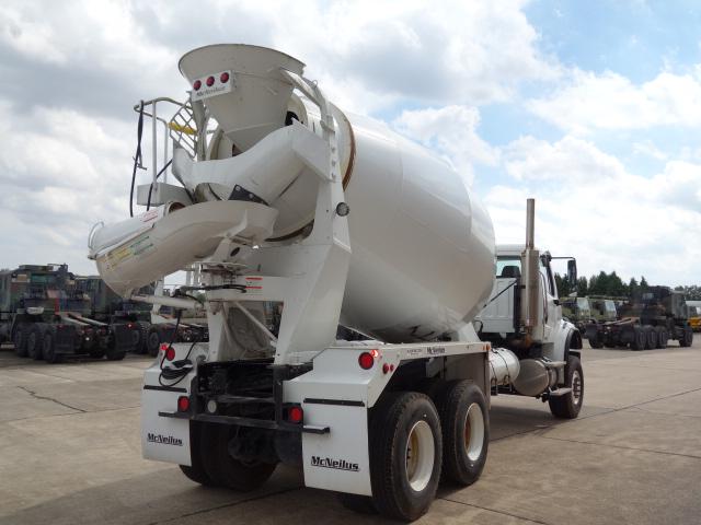 Freightliner 6x6 LHD concrete mixer and Iveco Trakker 6x6 RHD crane truck