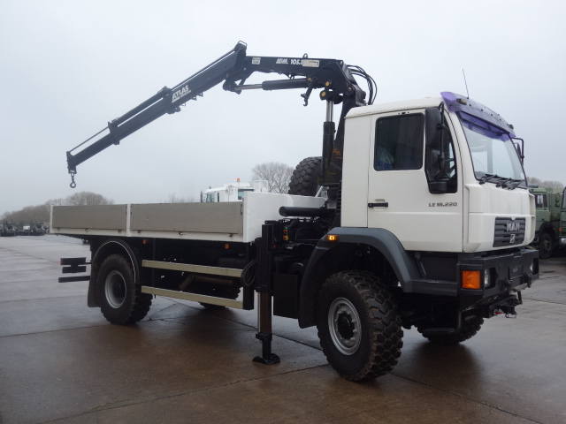 New arrivals 2 x Man LE18.220 4x4 crane trucks