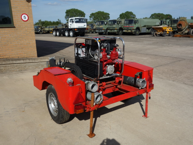 Just arrived Godiva fire pump trailer