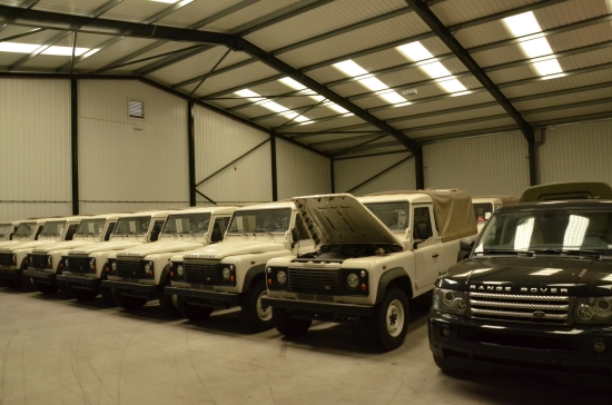 Were sold All news land rovers for a company from Africa