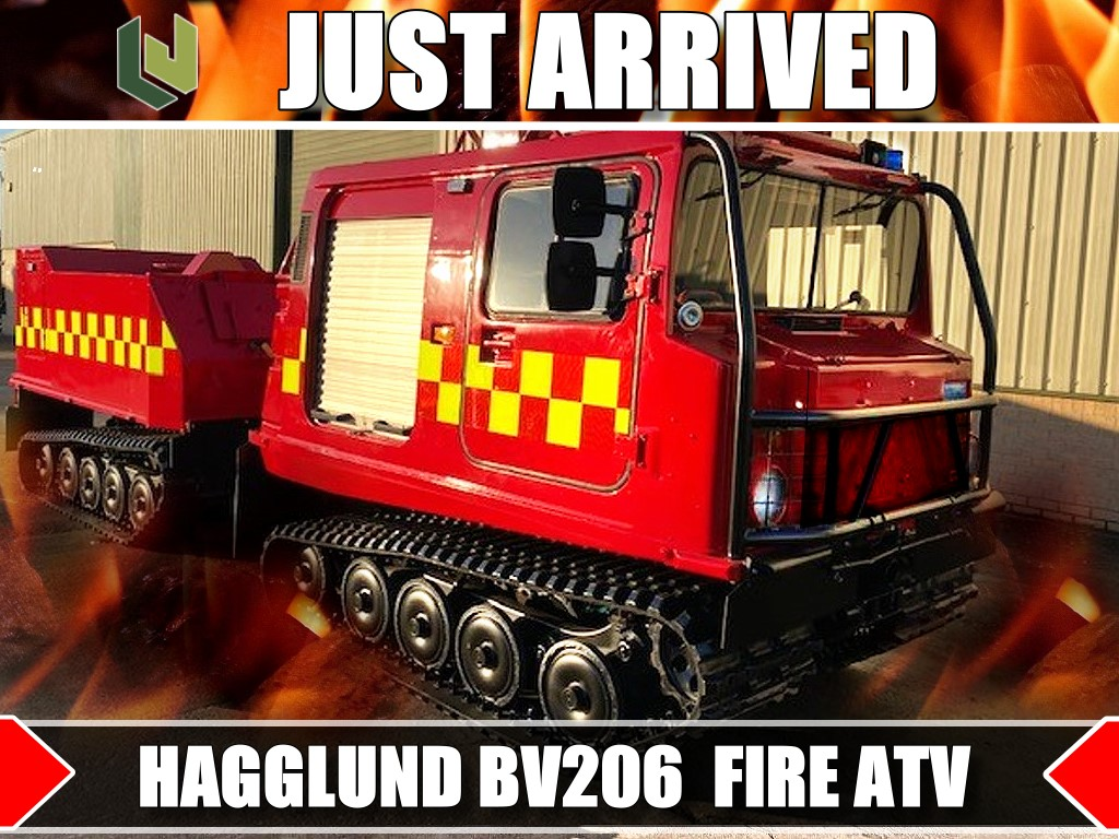 JUST ARRIVED 2  Hagglund BV 206 Fire Vehicles