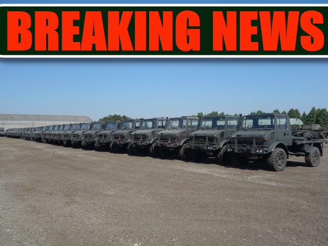 Just arrived a batch of Ex Military Mercedes Unimog U1300L RHD trucks | MOD direct sales
