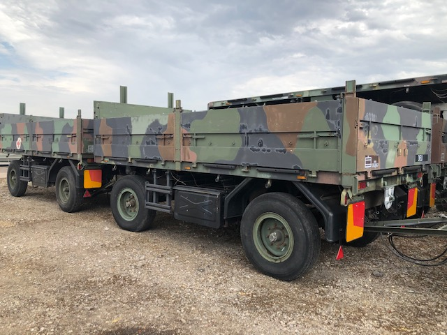 10 x Schmitz 2 axle draw bar cargo trailers