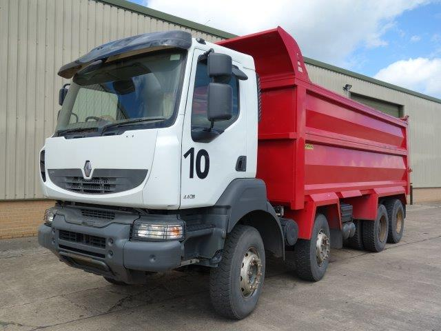 Choice of 2 Renault Kerax 440 DXi 8x4 tipper trucks | MOD direct sales