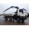 SOLD 2 x Man LE18.220 4x4 crane trucks