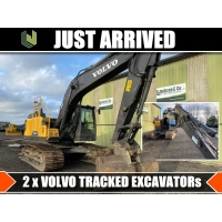Just arrived 2  Volvo tracked excavators