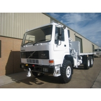 Volvo FL12 6x6 cargo platforms with Hiab 115-1 crane  for sale Military MAN trucks