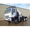 Iveco 260E37 eurotrakker 6x6 tractor unit with HMF crane for sale