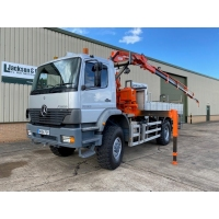 Mercedes Atego 1828 4x4 Crane Truck for sale in Africa