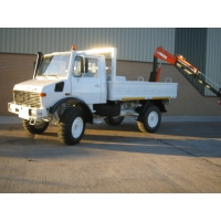 Mercedes Unimog U1300L crane truck for sale