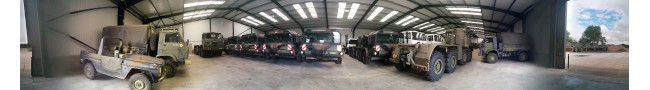 The shed 2 of the Rocket site 2015 -- L.Jackson & Co Ltd � Ex Army UK � Ex Military Vehicles, Ex Mod NATO sales