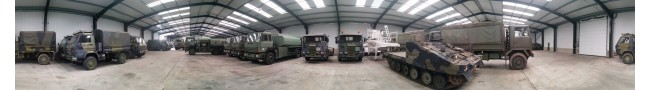 The shed 4 of the Rocket site 2015 -- L.Jackson & Co Ltd � Ex Army UK � Ex Military Vehicles, Ex Mod NATO sales